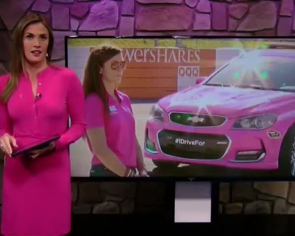 DANICA PATRICK PAINTS THE TRACK PINK