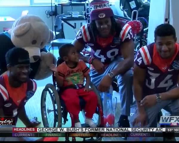 Tech players spend time at Charlotte Children-s Hospital_98666335