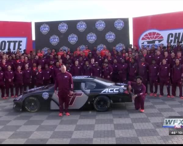 Virginia Tech football team gets NASCAR experience_12517081