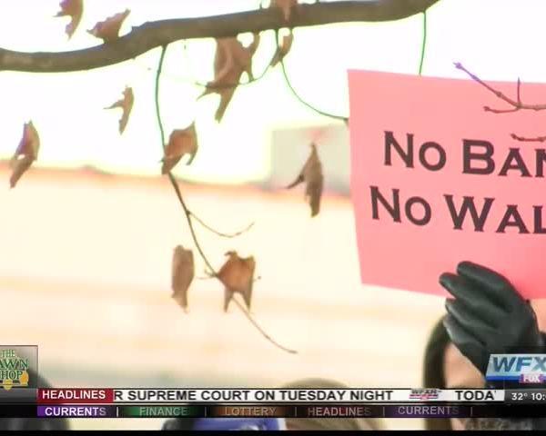 Protestors in Blacksburg