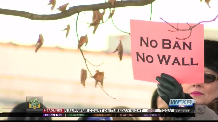 Protestors in Blacksburg