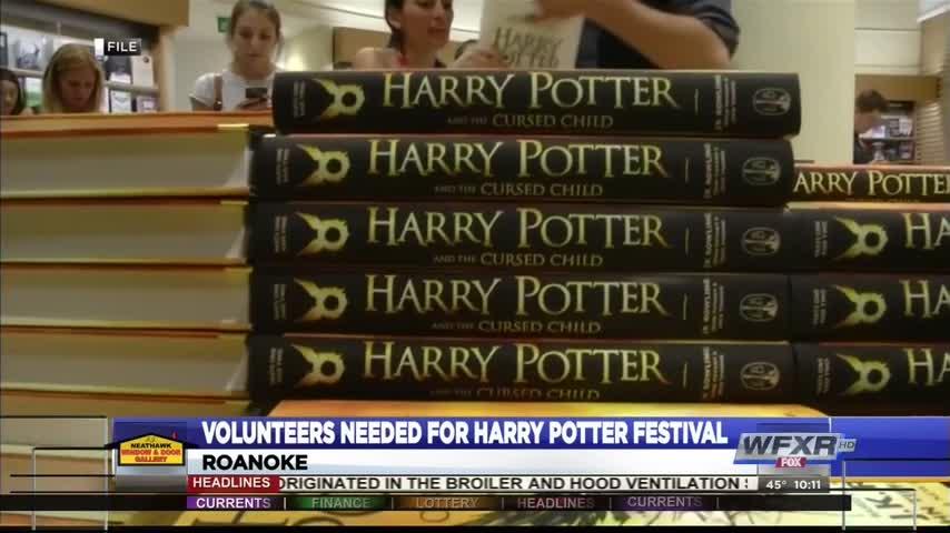 Volunteers needed for Harry Potter Festival