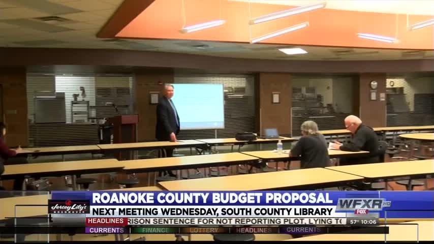 Roanoke County budget proposal meeting