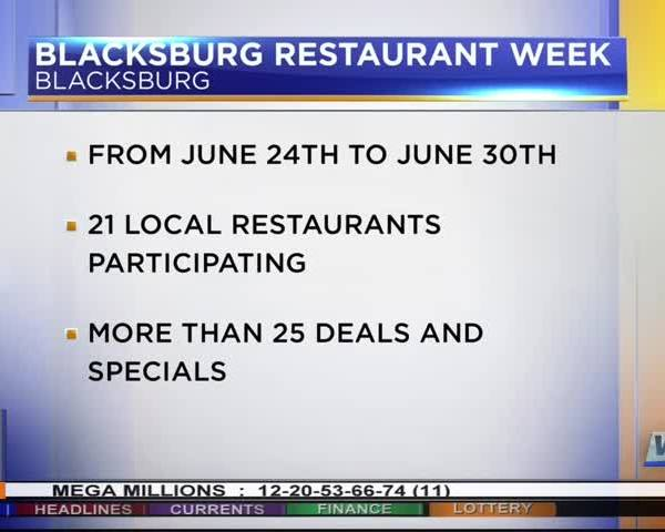 Blacksburg Restaurant Week continues till Friday_93644050