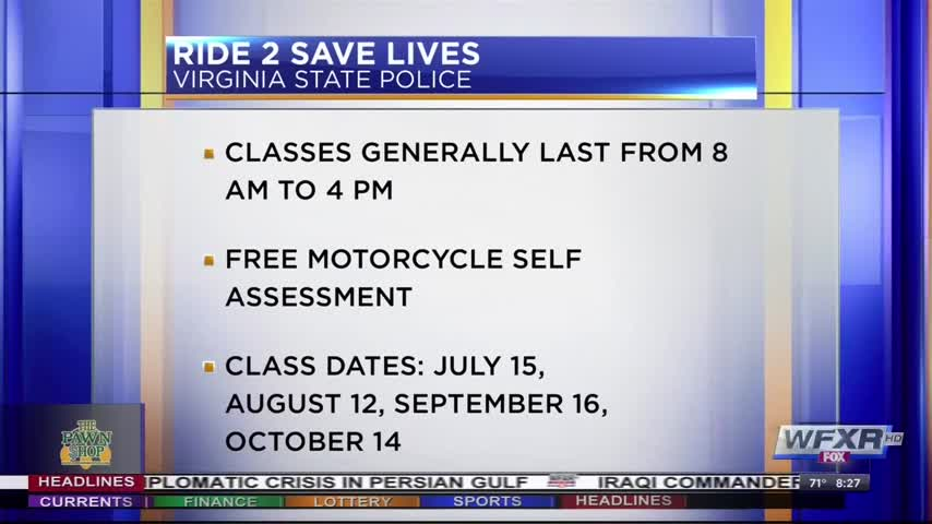 Motorcycle safety class offered by Virginia State Police_86498876