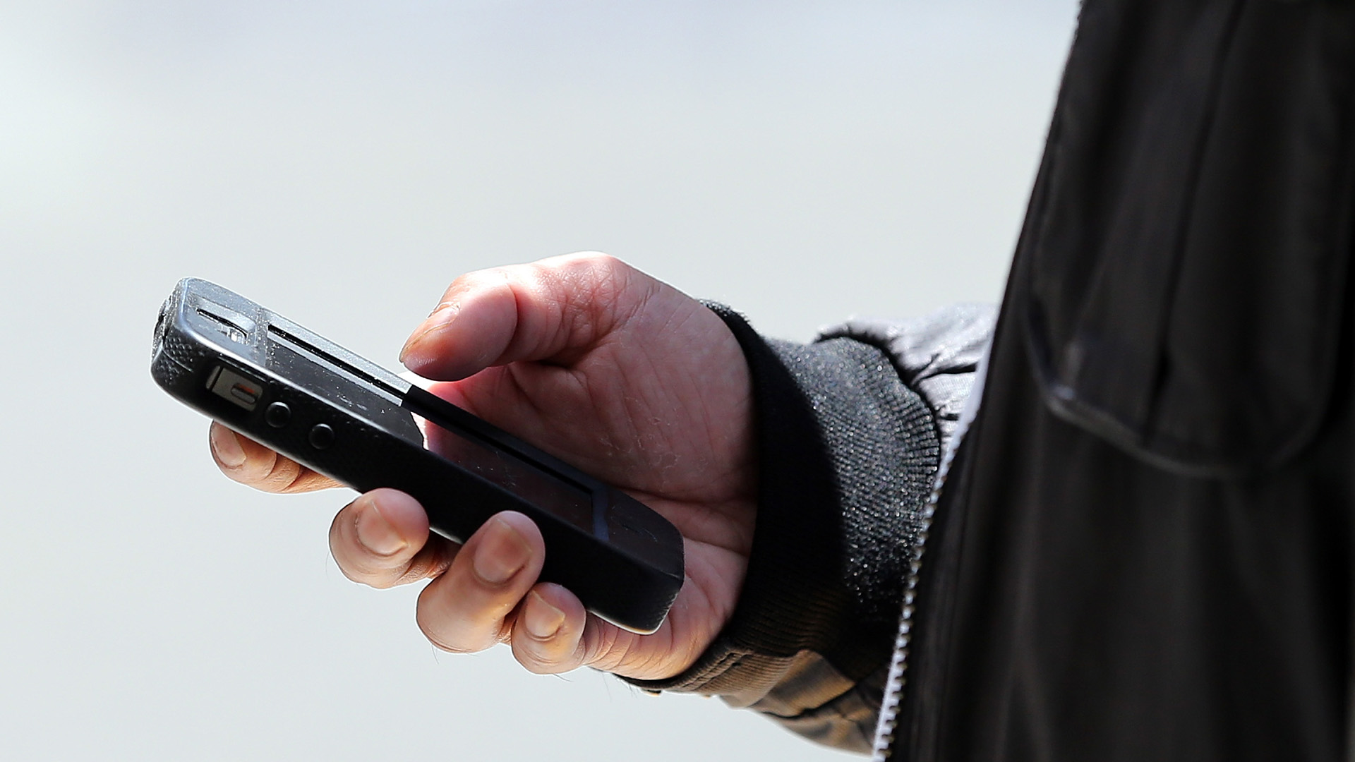 Pedestrian using smartphone while walking, cell phone, person walking55647626-159532