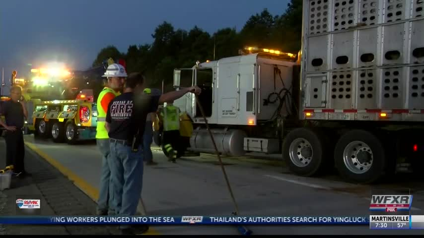 Tractor trailer Accident in Amherst County_94033308