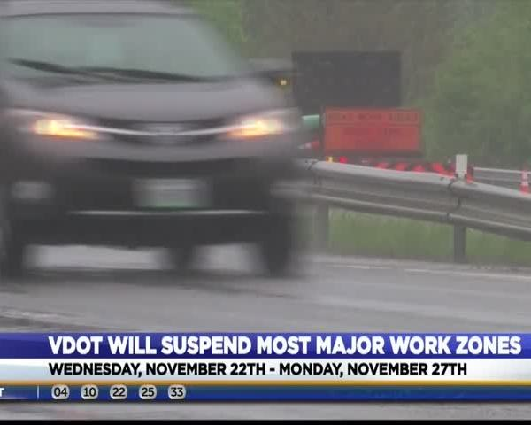 VDOT suspends most major work zones over Thanksgiving_25963102