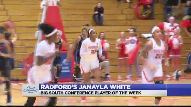 Radford Lady Highlander's Janayla White is the Big South Conference Player of the Week