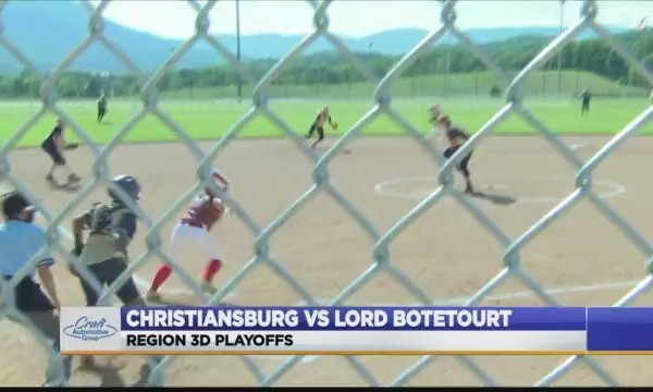 Christiansburg vs Lord Botetourt softball