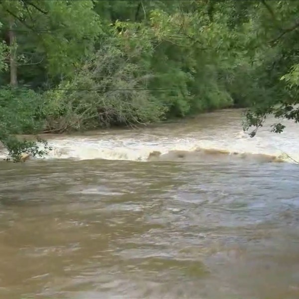Swollen creeks and flash flooding in the New River Valley