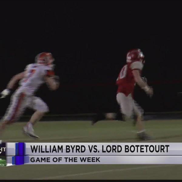 Blitz Week 10 GOTW: William Byrd at Lord Botetourt