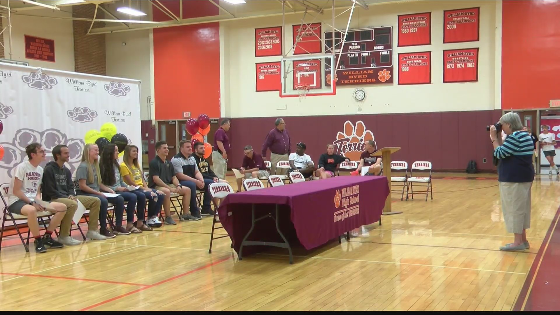 Eight William Byrd Terriers sign to continue athletic careers