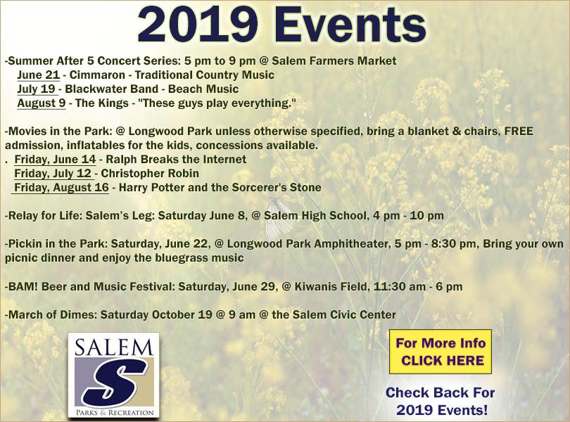 Salem Event Information