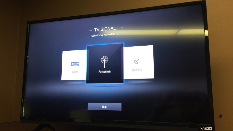 Vizio tv antenna setup