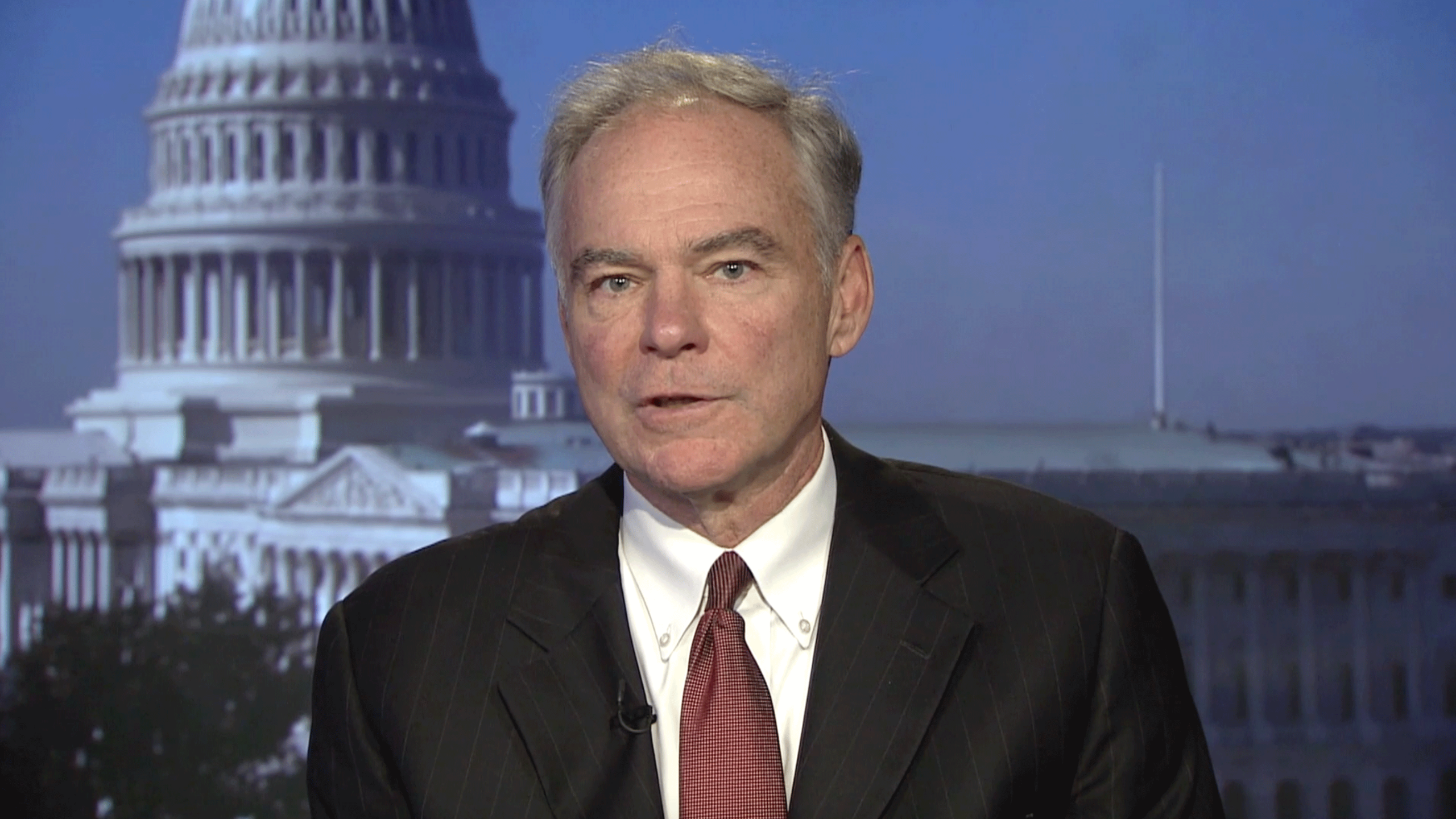 Sen. Tim Kaine (D-Va.) condemned President Donald Trump's use of Pentagon funds for the border wall. (Photo: WFXR News)