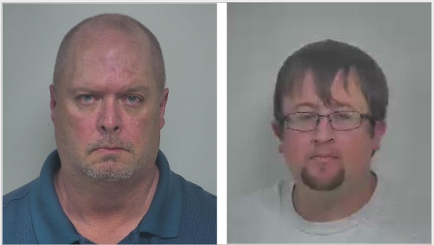 Robert Newman (Left) and Justin Garrett (Right), members of the Natural Bridge Voluntary Fire Department, were charged with embezzlement earlier this month.
