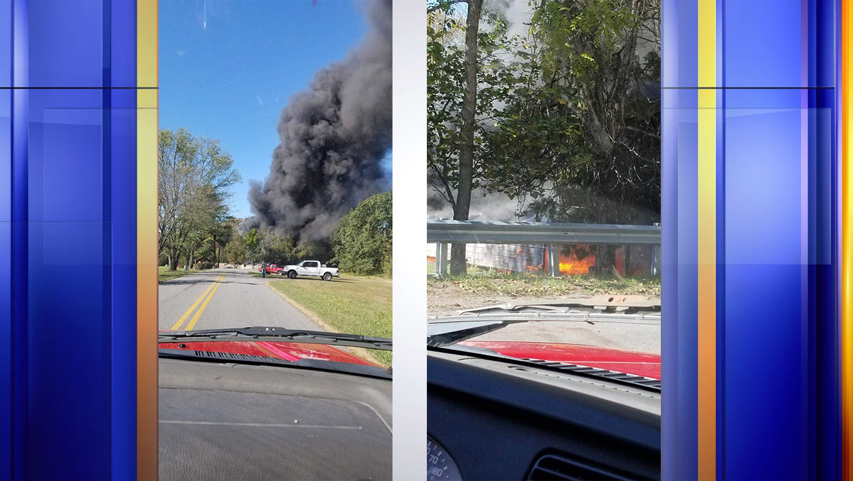 A golf cart fire spread to a shed of golf carts in Clifton Forge. (Viewer Photos: Courtesy Jeremy May)