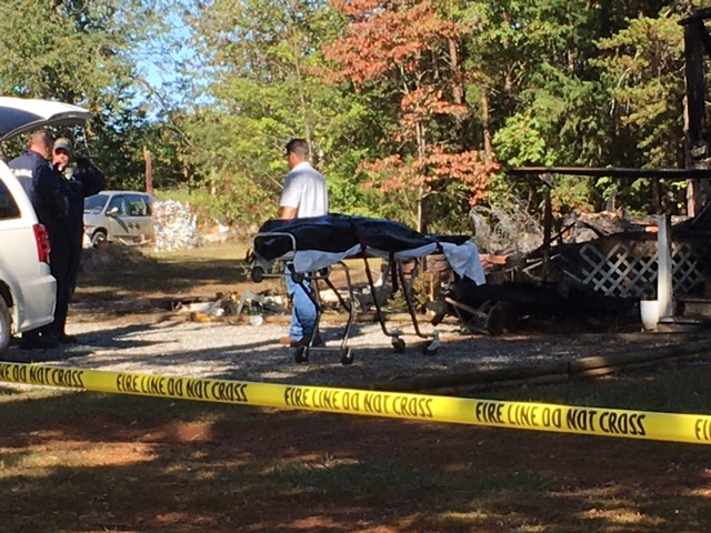A man was killed in an early morning house fire on Roundtree Road in the Concord area of Campbell County.. (Photo: Santiago Melli-Huber/WFXR News)