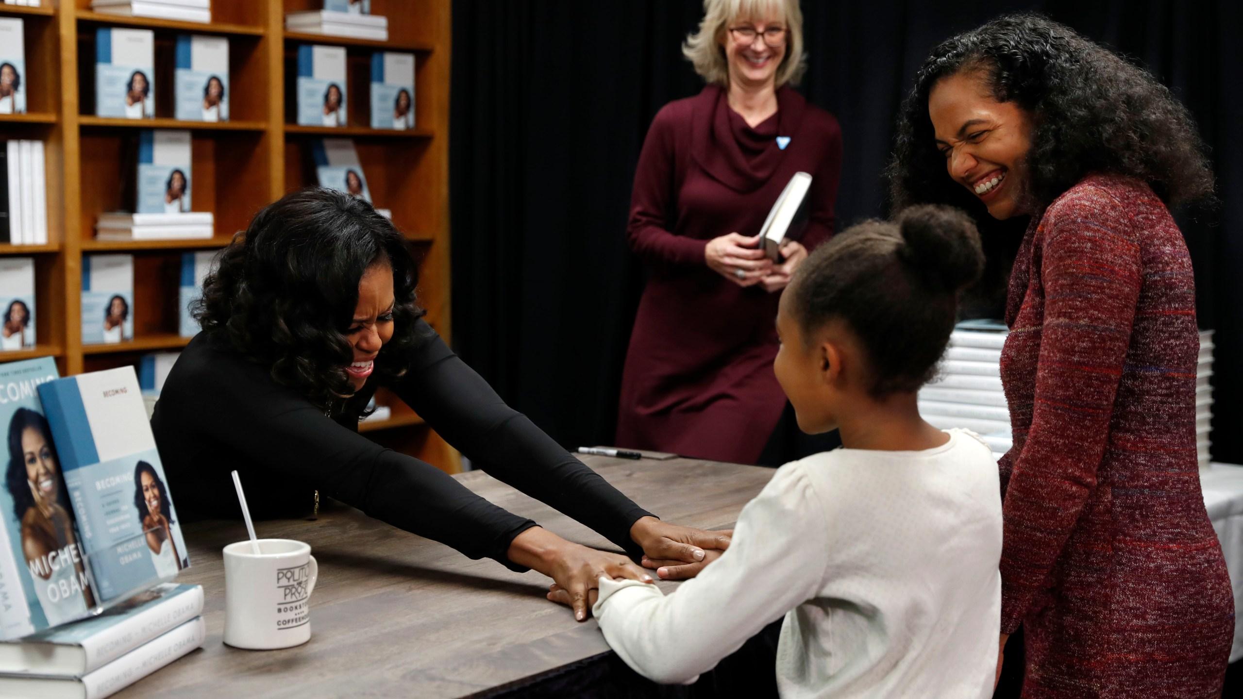 Michelle Obama, Kaitlyn Saunders, Katrice Saunders