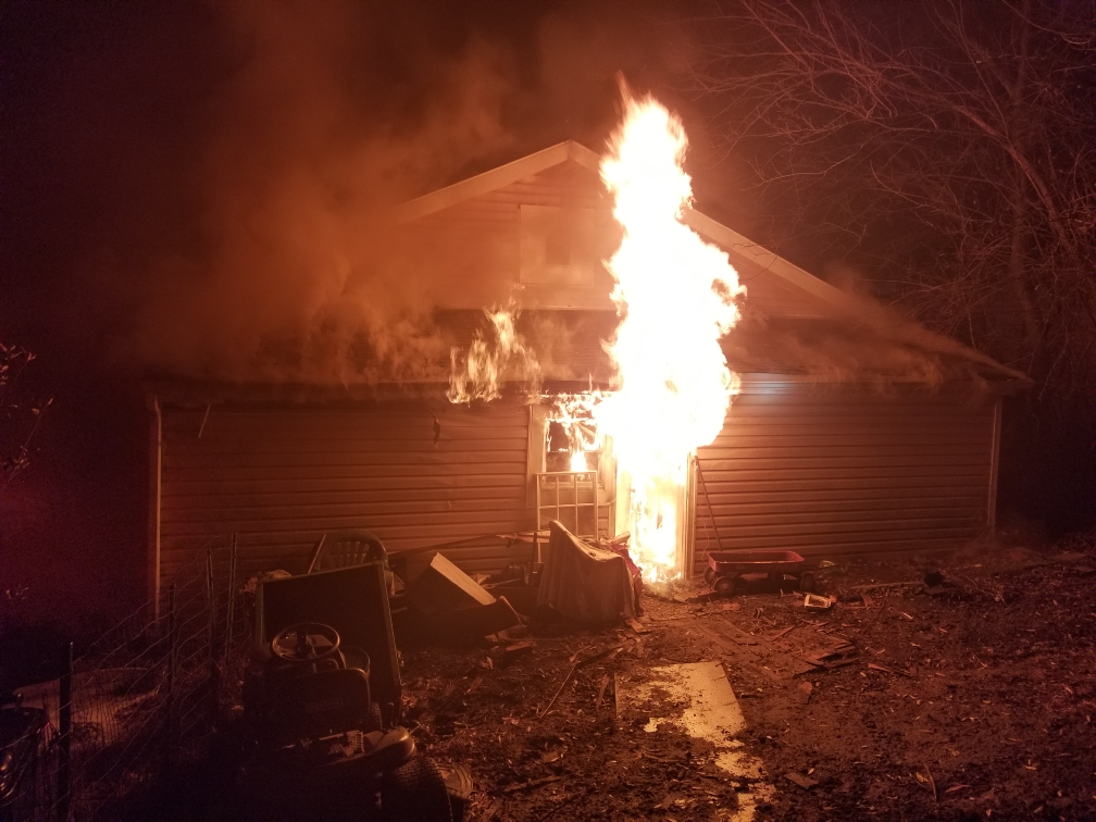 An early morning house fire has left one woman and her dog without a home. (PHOTO: Courtesy Danville Fire Department)