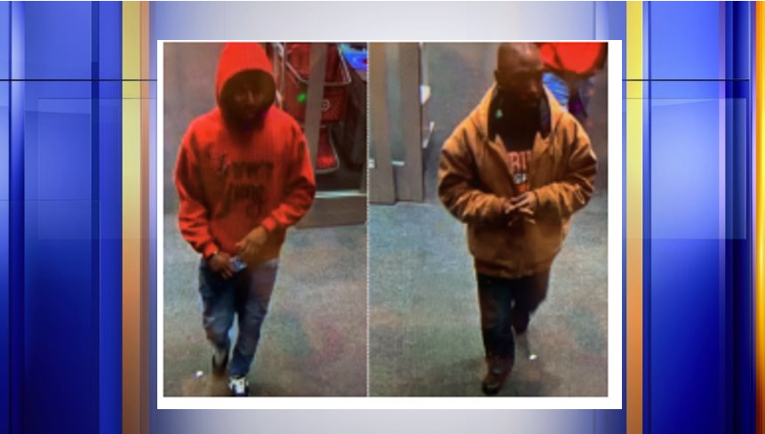 Danville police seek two persons of interest in connection to a burglary at the Target on Wednesday night. (Photo: Courtesy Danville Police Department)