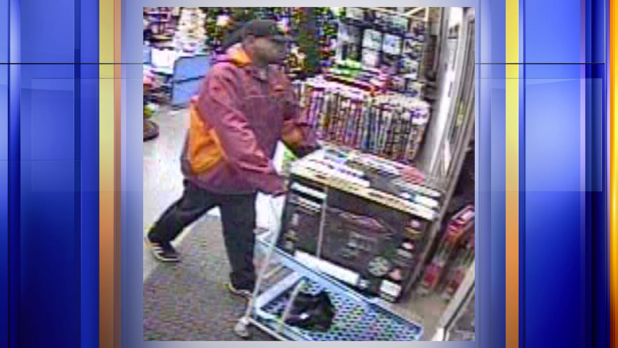 The man in this photo is accused of stealing a generator from the Bedford Walmart on Dec. 1. (Photo: Courtesy Bedford Police Department)