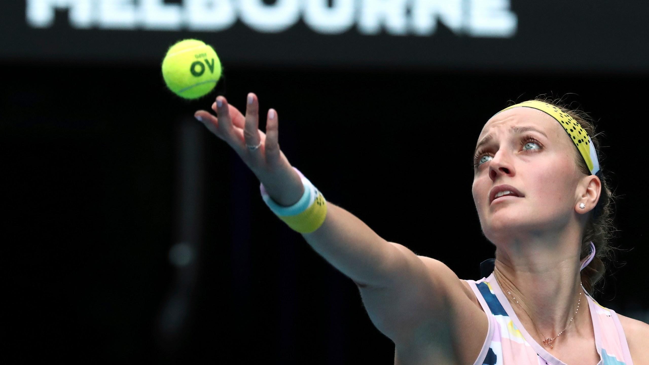 Champ Osaka Runner Up Kvitova Into 3rd Round In Australia