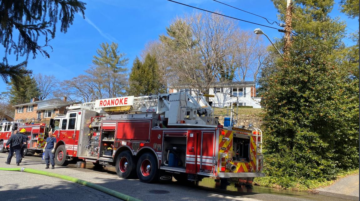 Firefighters responded to a house fire in Roanoke on Sunday, March 1. (Photo: Courtesy Roanoke Fire-EMS)