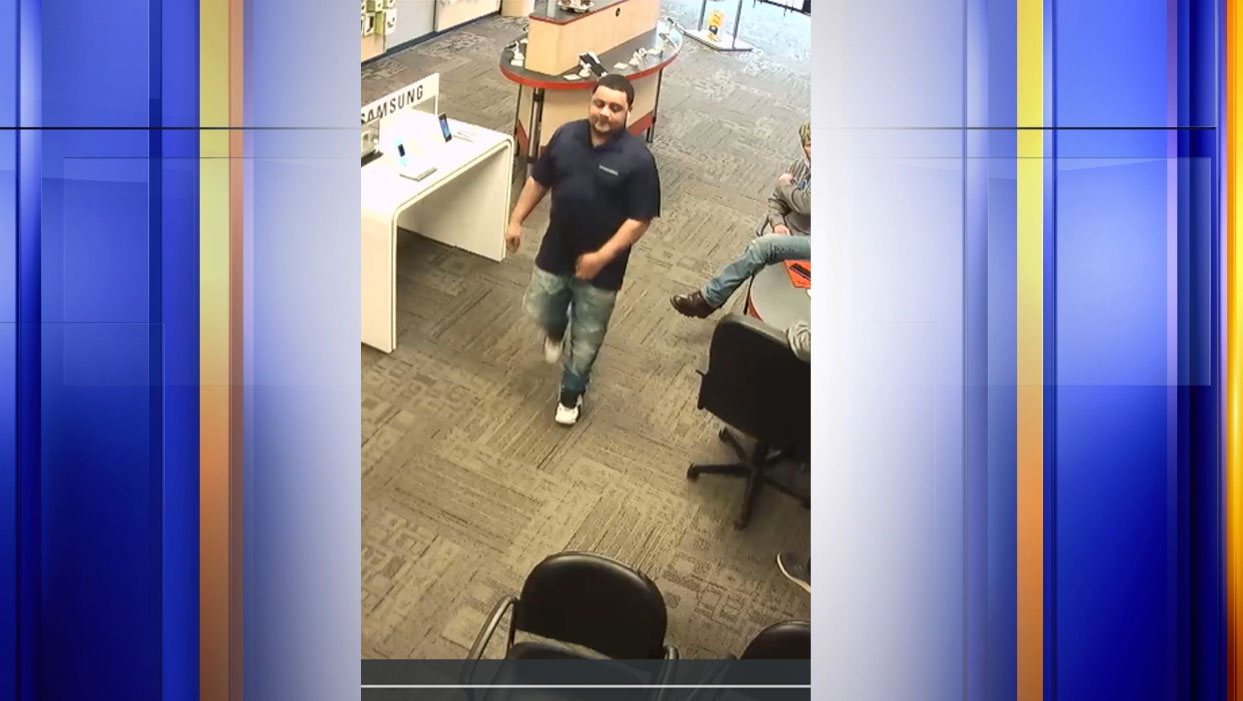 Police say this man fraudulently bought two iPhones and two Apple Watches from a Wytheville Verizon store on March 5. (Photo: Courtesy Wytheville Police Department)
