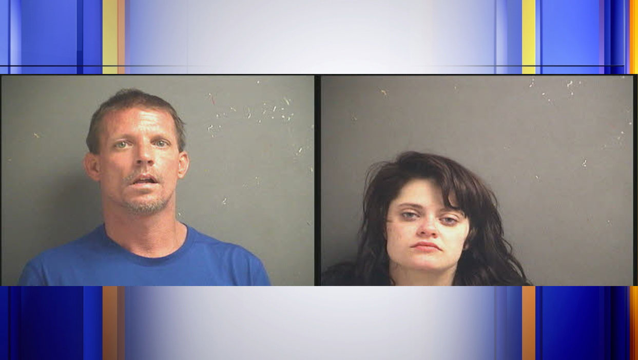 Authorities arrested Kenneth Chad Hatcher and Rebecca Elva Edwards on Saturday, April 18, marking the end of a two month investigation into a wanted fugitive. (Photos: Courtesy Carroll County Sheriff's Office)