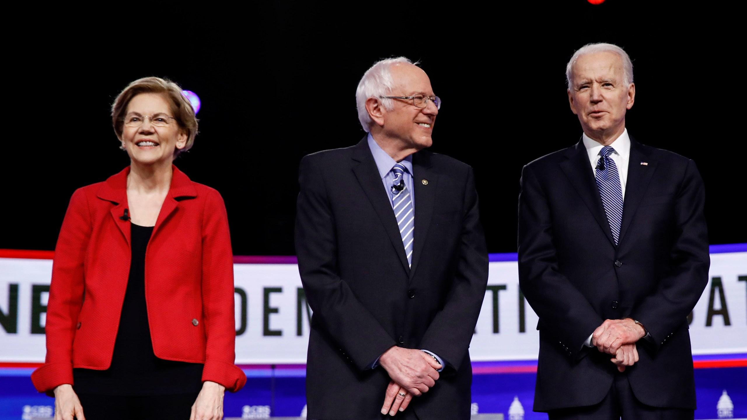 Elizabeth Warren, Bernie Sanders, Joe Biden, Amy Klobuchar