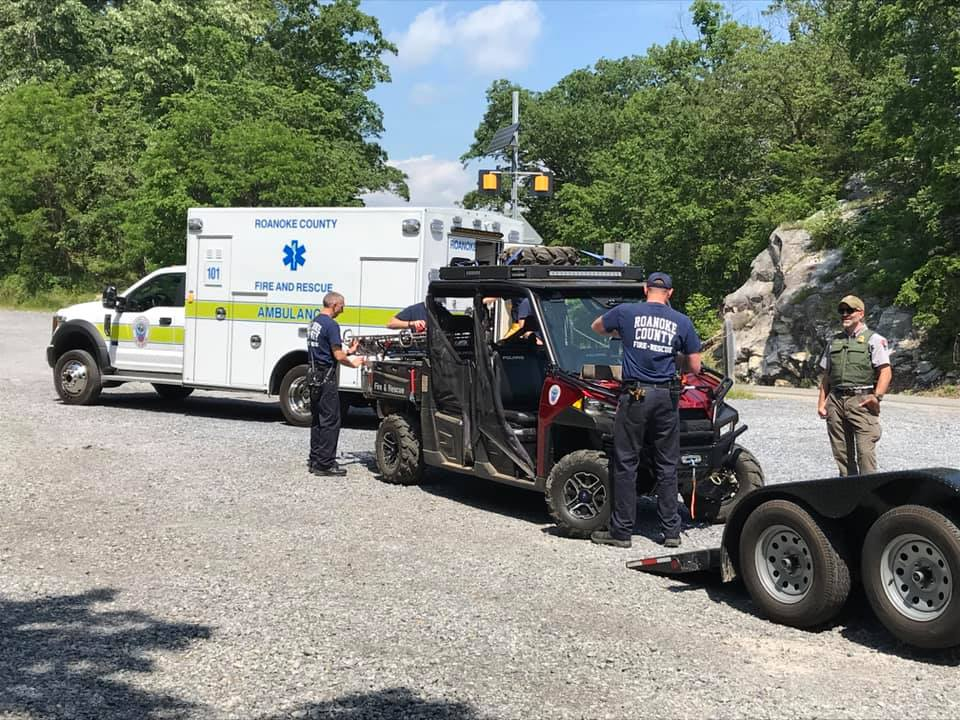 Roanoke County Fire & rescue respond to a call at McAfee's Knob trail. (Photo: Courtesy of Roanoke County Fire & Rescue Facebook)