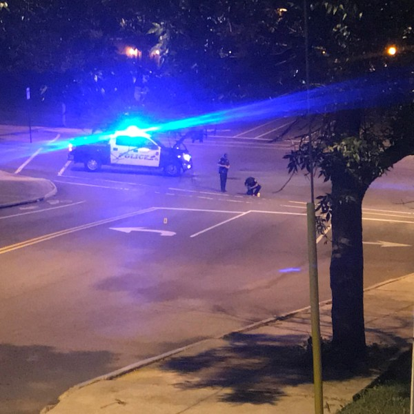 Members of the Roanoke Police Department are investigating after a call came in at approximately 2:15 a.m. on Friday, Aug. 7, about several shots fired along Elm Avenue between Franklin Road and 3rd Street. (Photo: Aaron Farrar/WFXR News)