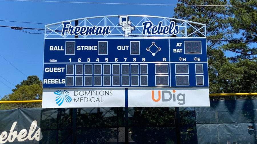 "Henrico County Public Schools announced Thursday, August 6 that Douglas S. Freeman High School in Henrico County will drop the name ""Rebels"" after community discussion (Photo: Courtesy DSFHS Baseball via WRIC)"