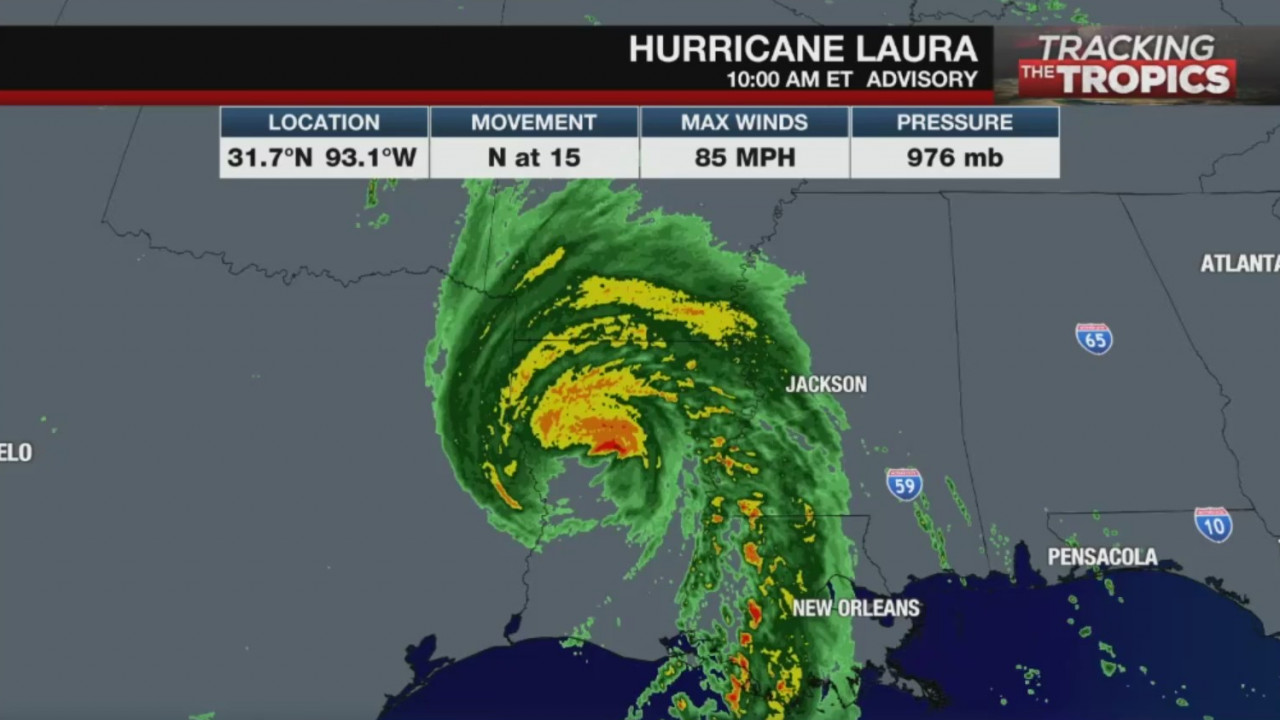 Laura Weakens To Tropical Storm Bringing Damaging Winds And Flooding Rainfall As It Moves Inland Wfxrtv