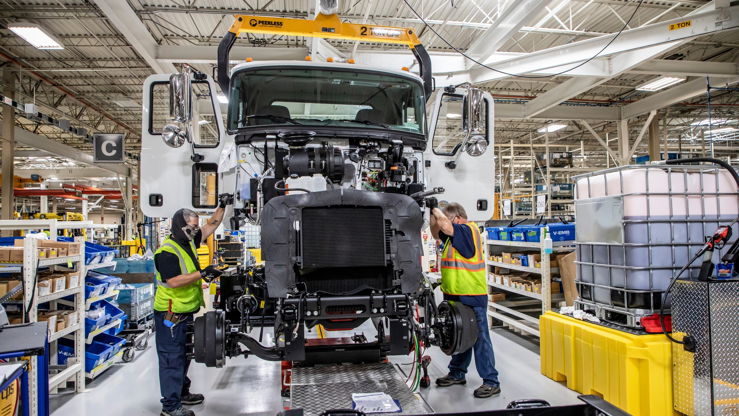 Mack Trucks' all-new Mack® MD Series of medium-duty vehicles is now in full production at Mack's new Roanoke Valley Operations (RVO) facility in the Roanoke Valley, Virginia. (Photo: Courtesy Mack Trucks)