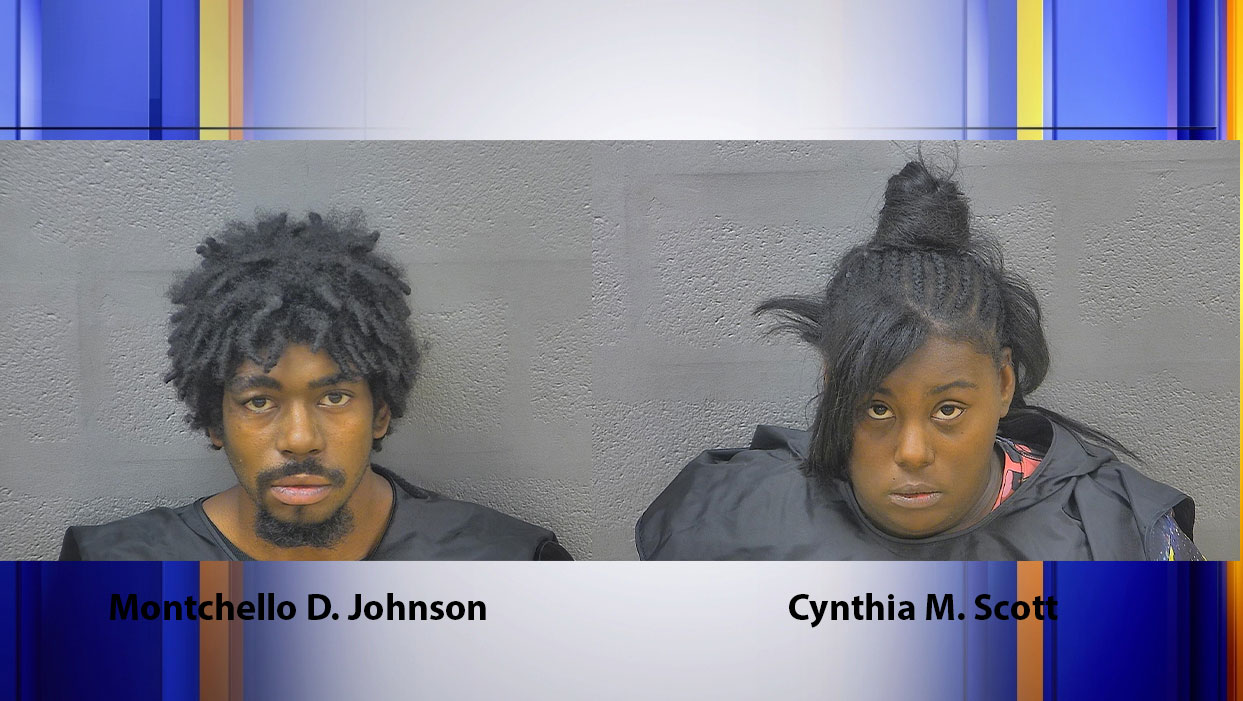 The Lynchburg Police Department says Montchello Johnson, 25, and Cynthia Scott, 24, of Lynchburg both face multiple charges in connection with a shooting on Thursday, Sept. 24. (Photos: Courtesy Blue Ridge Regional Jail Authority)
