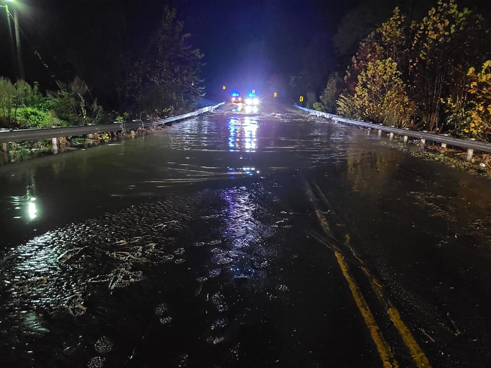 Concord first responders cleared their second water rescue call of the night around 5:45 a.m. on Friday, Oct. 30, after remnants of Hurricane Zeta resulted in flooding across Appomattox County. (Photo: Courtesy Concord Volunteer Fire Department)