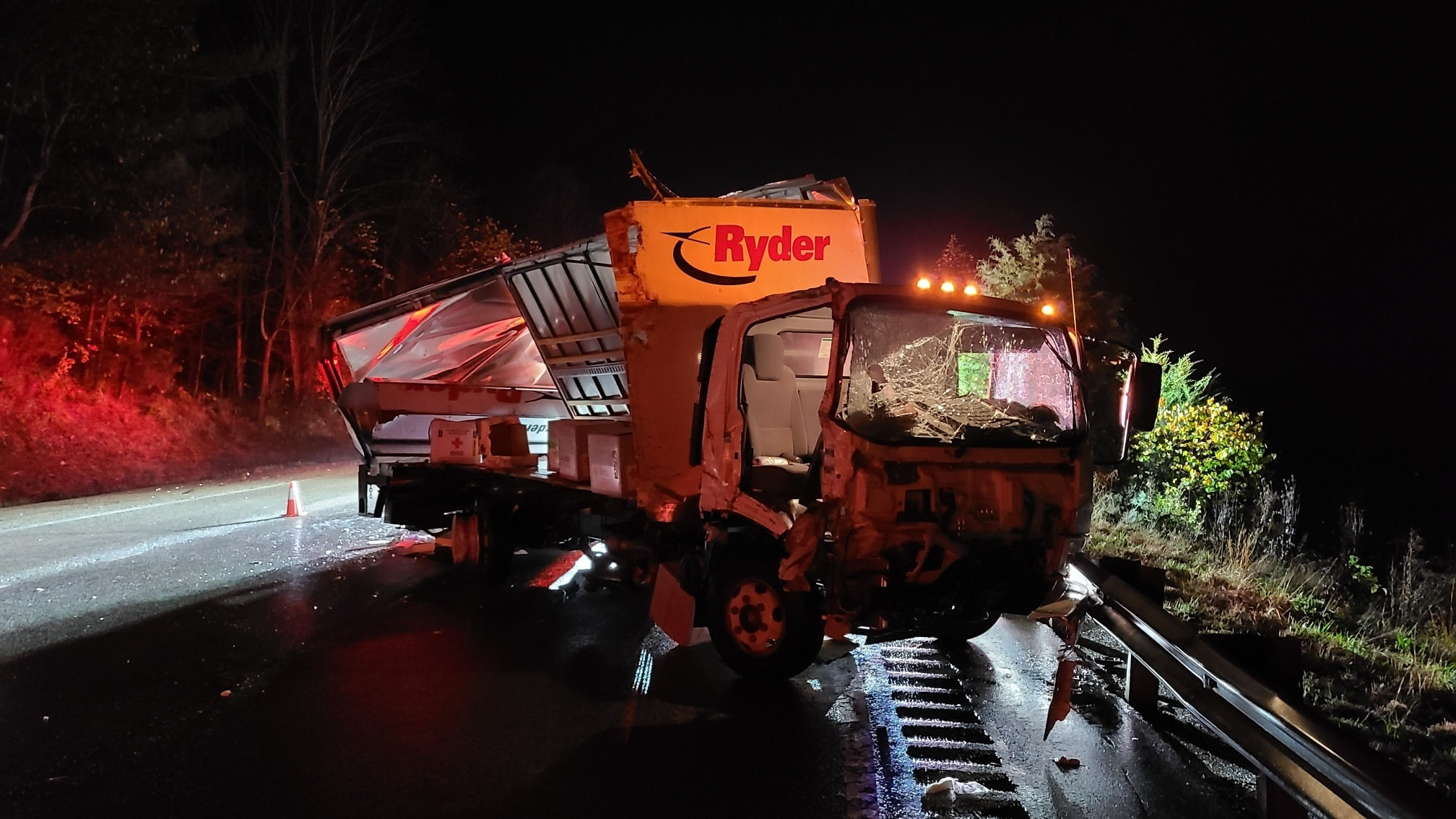 First responders in Botetourt County were dispatched to a number of early morning crashes along I-81 on Sunday, Oct. 25. (Photo: Courtesy Troutville Volunteer Fire Department)