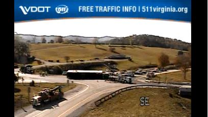VDOT says the exit ramp at mile marker 168 of I-81 North is closed due to a tractor-trailer crash in Botetourt County on Monday, Oct. 19. (Photo: Courtesy Virginia Department of Transportation)