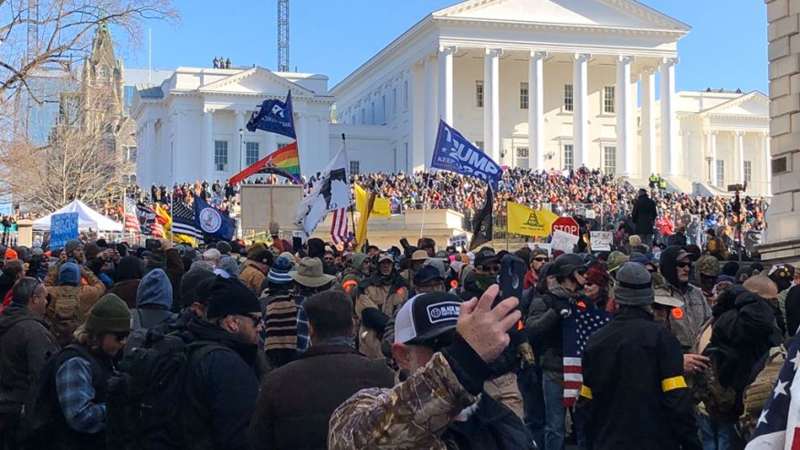 Thousands of people gathered n Richmond on Jan. 20, 2020 for Lobby Day. (Photo: Courtesy WRIC)