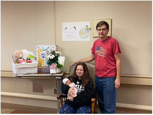 Katrina and Ryan welcomed baby Sadie on Jan. 1, 2021, in Galax, where she was welcomed as Twin County Regional Healthcare's first baby of the year. (Photo: Courtesy Twin County Regional Healthcare)