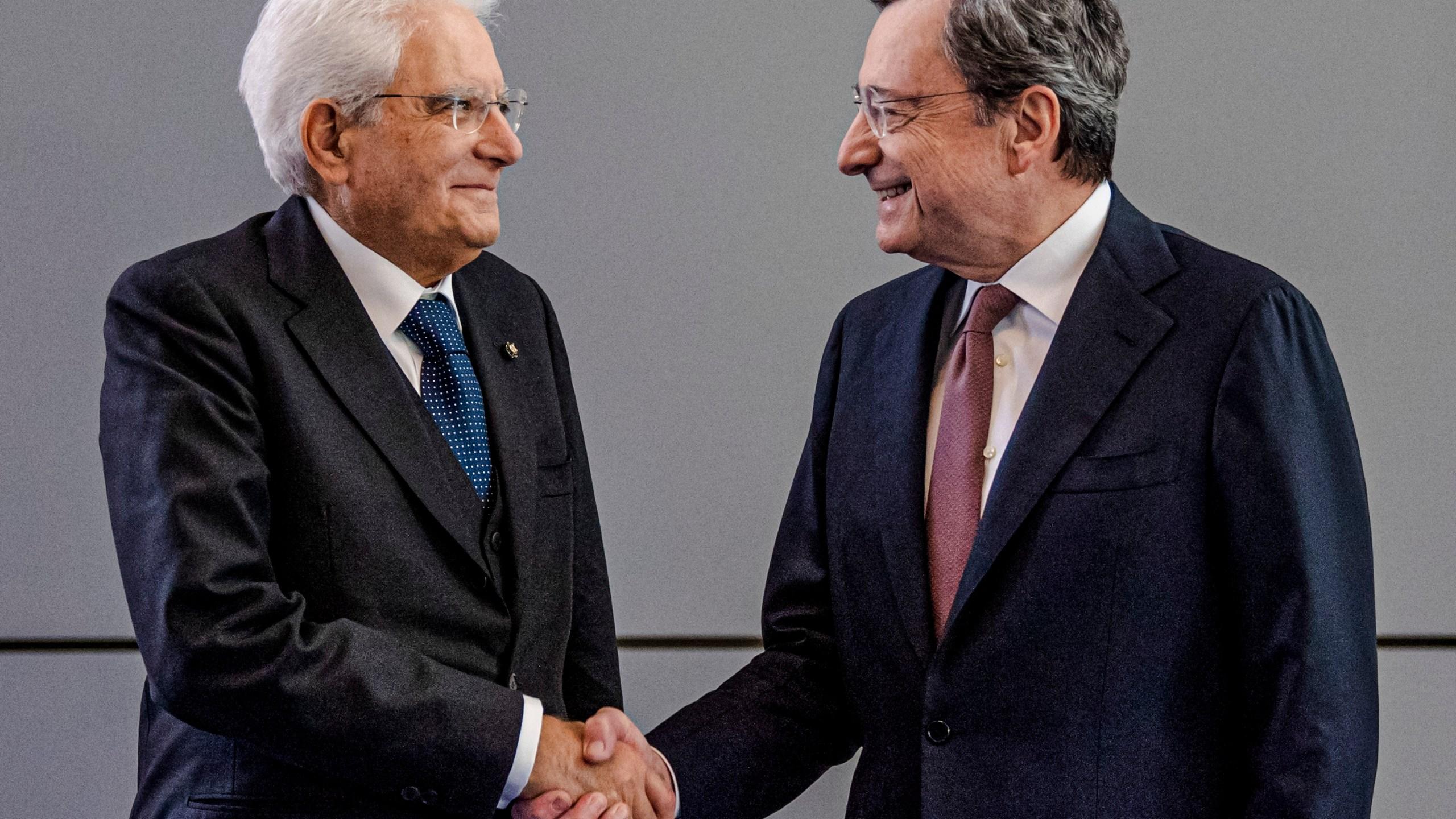 Mario Draghi, Sergio Mattarella