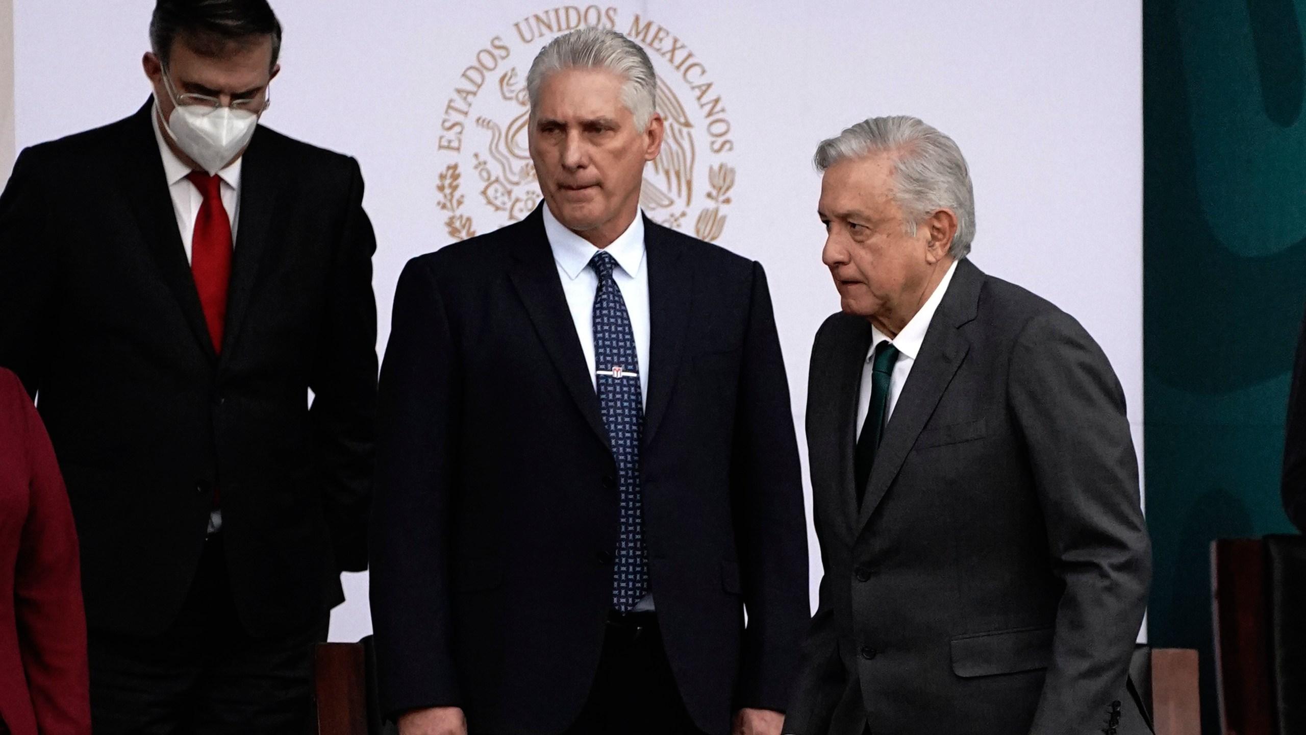 Miguel Diaz-Canel, Andres Manuel Lopez Obrador